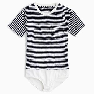 J. Crew Women's Pocket T-Shirt Bodysuit, Size M